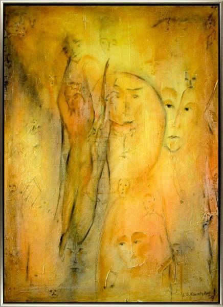 (2006) Tanz der Gesichter -50 X 60