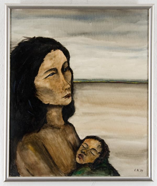 (1991) Frau mit Kind -50 X 60